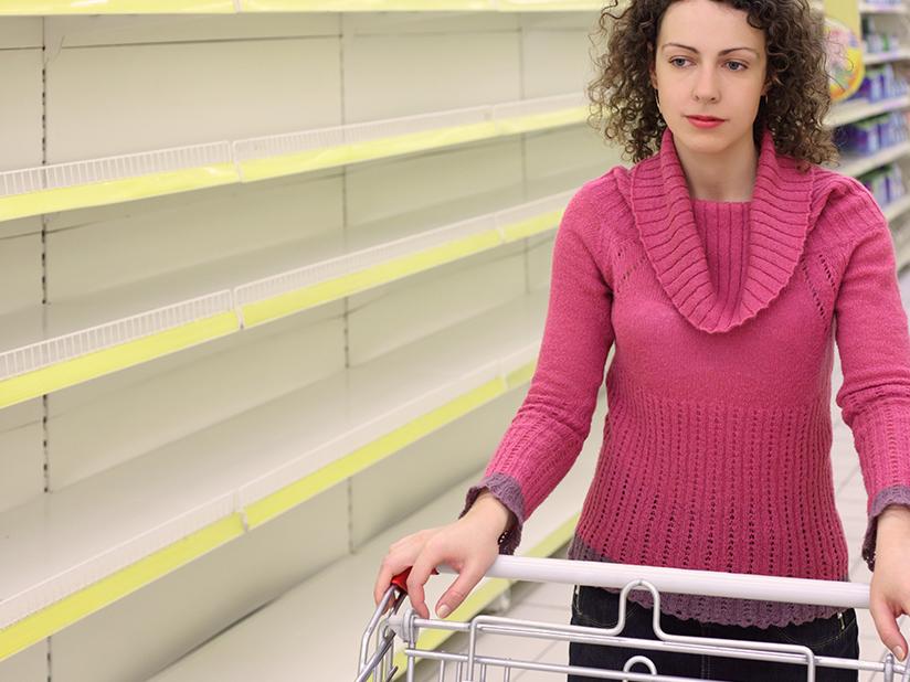 Kein Nachschub: Lebensmittel werden knapp