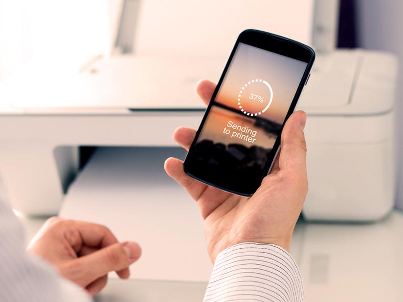Mobiler Smartphone-Drucker