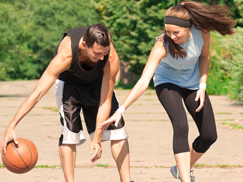 Basketball spielen im Prinzenpark