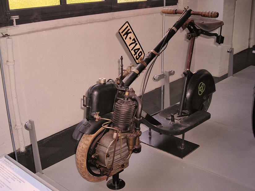 Auch in Deutschland wurden Roller gebaut
