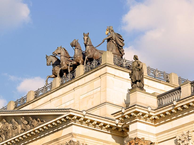 Quadriga – die Statue auf dem Braunschweiger Schloss